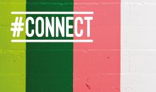 Bild des Projekts Connect Farbige Streifen mit Aufschrift